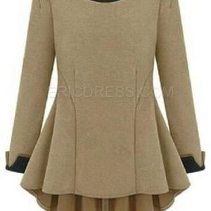 Beige High Low Tunic Top XXL but Fits XL 16P  NWT